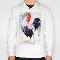 rooster Hoodies featuring Rooster  by Slaveika Aladjova