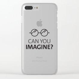 Can You Imagine John Classic Glasses Design Clear iPhone Case