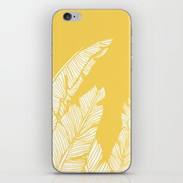 Banana Leaves on Yellow #society6 #decor #buyart iPhone Skin