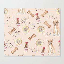 Chihuahuas and donuts Canvas Print