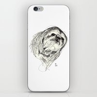 sloth iPhone & iPod Skins featuring Sloth by Ursula Rodgers