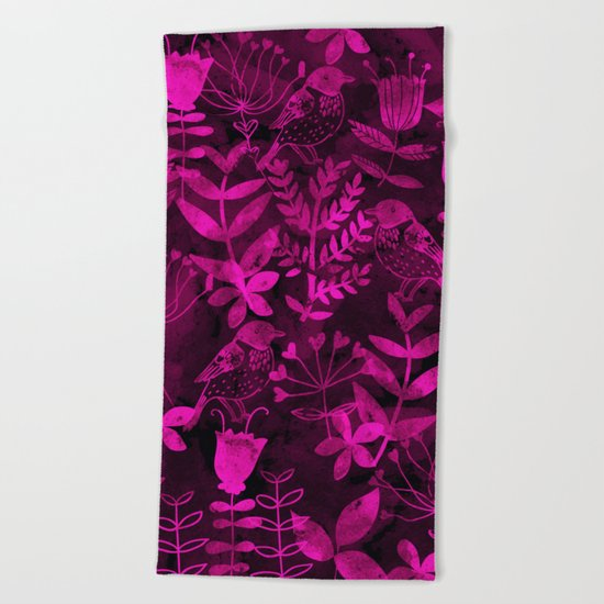 Abstract Botanical Garden III Beach Towel