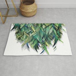"""""""Spring Forest of Surreal Leaf"""" Rug"""
