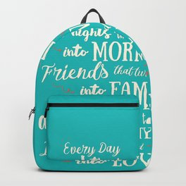 Thank God, inspirational quote for motivation, happy life, love, friends, family, dreams, home decor Backpack
