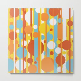 Stripes and circles color mode #2 Metal Print
