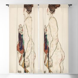 Standing Nude woman with a Patterned Robe (1917) Blackout Curtain
