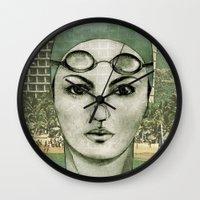 swim Wall Clocks featuring SWIM by Camila Fernandez