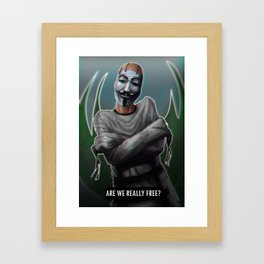 Are we free? Framed Art Print