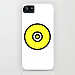 Yellow Black Circle iPhone Case