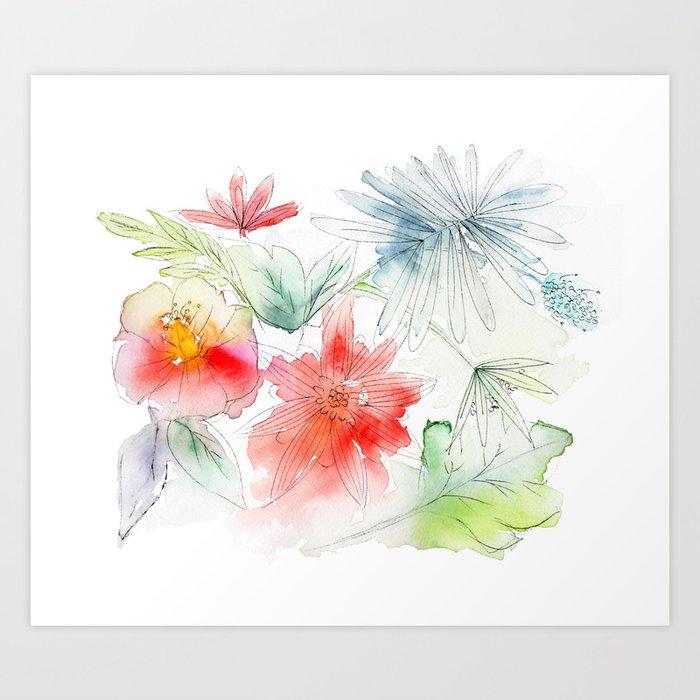 My flowers garden Art Print