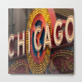 Chicago Theatre Sign Metal Print