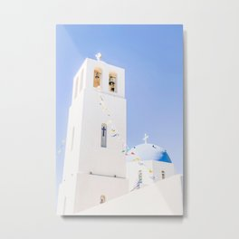 481. Church of Fira, Santorini, Greece Metal Print
