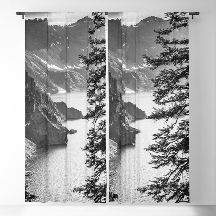 Forest Lake Retreat - Crater Lake Blackout Curtain by cascadia