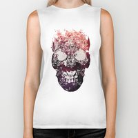 murray Biker Tanks featuring SKULL by Ali GULEC