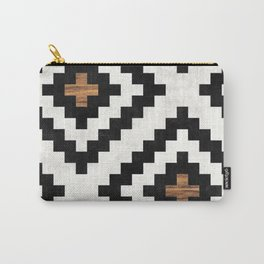 Urban Tribal Pattern No.16 - Aztec - Concrete and Wood Carry-All Pouch