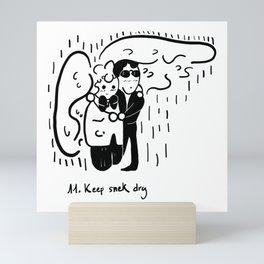 11. Keep snek dry Mini Art Print