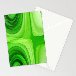 retro Pattern green Stationery Cards