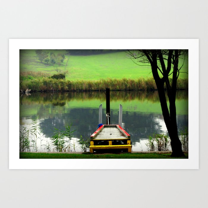 Colourful Pier Art Print
