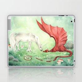 Unicorn and Dragon Laptop & iPad Skin