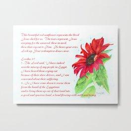 Red Sunflower - Jesus Wept Metal Print