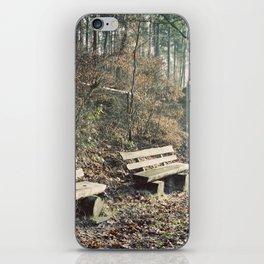 Strategically shaped logs iPhone Skin