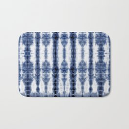 Tiki Shibori Blue Bath Mat
