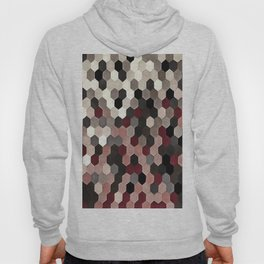 Hexagon Pattern In Gray and Burgundy Autumn Colors Hoody