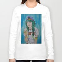 grimes Long Sleeve T-shirts featuring Grimes by Jenn