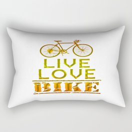 LIVE - LOVE - BIKE Rectangular Pillow