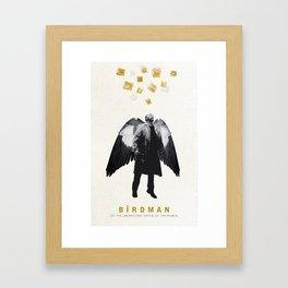 BIRDMAN MINIMALIST MOVIE POSTER Framed Art Print