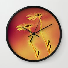 Two Daisies Wall Clock