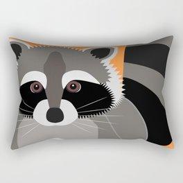 Raccoon Mischief Rectangular Pillow
