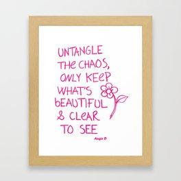 Untangle The Chaos Pink Framed Art Print