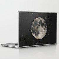 minimalist Laptop & iPad Skins featuring The Moon  [Sans Type] by Heather Landis