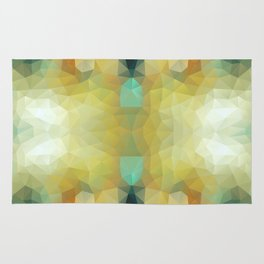 Mozaic design in soft and bright colors Rug