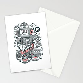 ROBOT MACHINE Stationery Cards