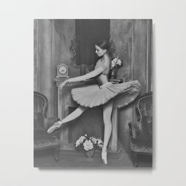 Prima Ballerina classical ballet portrait black and white photograph / black and white photography Metal Print