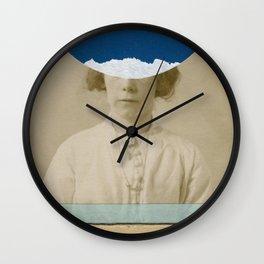 Blue Dot Wall Clock