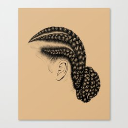Crown: Low Braided Bun Canvas Print