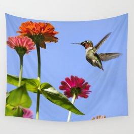 Hummingbird Happiness Wall Tapestry