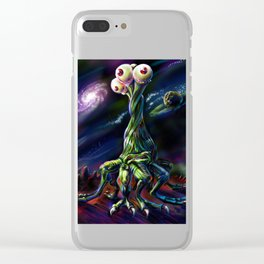 Three Eyed Dancer Clear iPhone Case