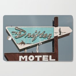 Vintage Neon Sign - The Drifter - Silver City Cutting Board
