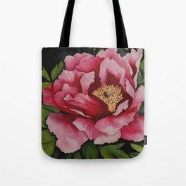 """Painted on Silk  """"Full Bloom"""" Tote Bag"""