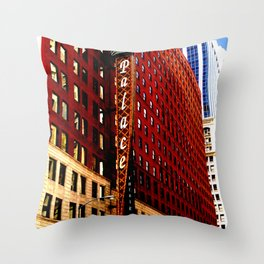 Vintage Chicago: Cadillac Palace theatre photography Throw Pillow