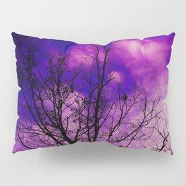 Trees Sinking in Purple Pillow Sham