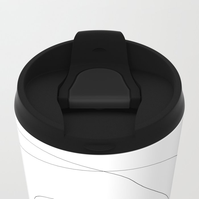 Abstract Infinite Metal Travel Mug