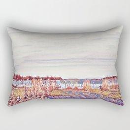 Shore line fall colors Rectangular Pillow