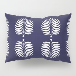 TROPICAL PALMS . BLUE Pillow Sham
