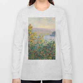 Flower Beds at Vétheuil by Claude Monet 1881 Long Sleeve T-shirt