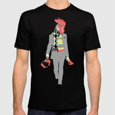 Rooster LARGE Mens Fitted Tee Black